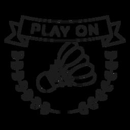 Jugar en la línea de la insignia de la rama del volante