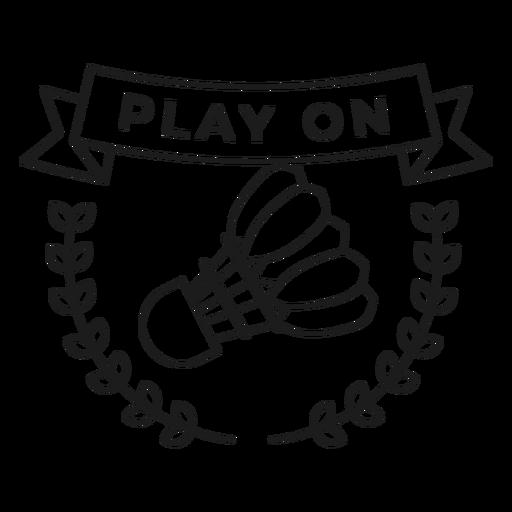 Jugar en el trazo de la insignia de la rama del volante