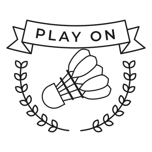 Play on shuttlecock branch badge stroke Transparent PNG