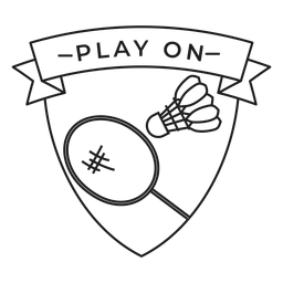 Play on shuttlecock racket badge stroke