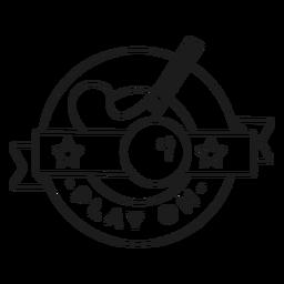 Jogar no traço de distintivo de bola de pau