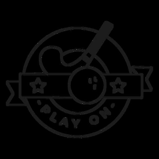 Jogar no traço de distintivo de bola de pau Transparent PNG