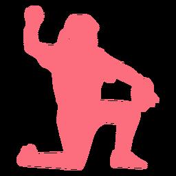 Spieler Ballhandschuh Baseball Spieler Ballspieler Silhouette