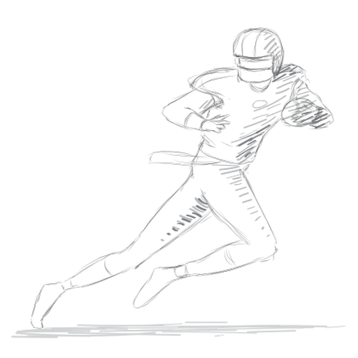 Player ball running helmet outfit sketch Transparent PNG