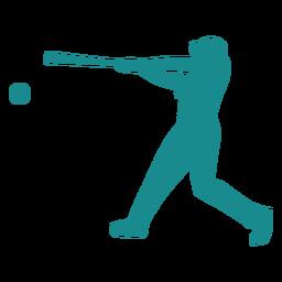 Jogador de beisebol jogador de beisebol silhueta de bola de morcego