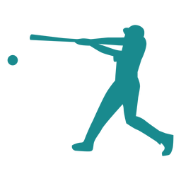 Player ballplayer baseball player bat ball silhouette