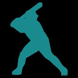 Jugador jugador de béisbol jugador de béisbol murciélago gorra silueta