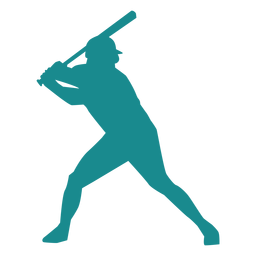 Player ballplayer baseball player bat cap silhouette