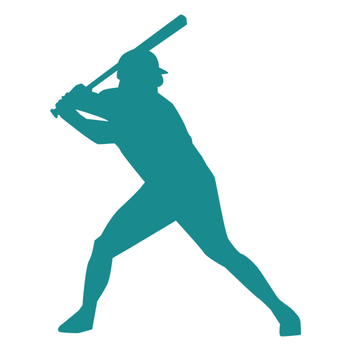 Player ballplayer baseball player bat cap silhouette