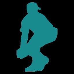 Jogador ballplayer beisebol cap luva silhueta