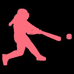 Jugador jugador de béisbol bate bola casco jugador de béisbol silueta