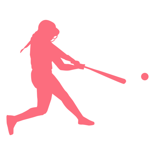 Player ballplayer bat ball helmet baseball player silhouette Transparent PNG