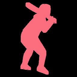 Jugador jugador de béisbol bate jugador de béisbol silueta