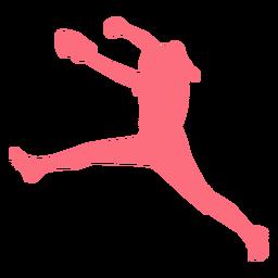 Jogador ballplayer luva bola capacete beisebol jogador silhueta