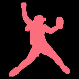 Jogador, ballplayer, luva, boné beisebol, jogador, silueta