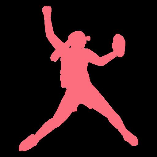 Player ballplayer glove cap baseball player silhouette Transparent PNG