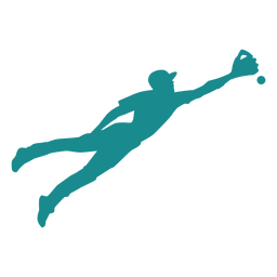 Player baseball player ballplayer ball glove silhouette