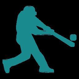 Jogador, jogador baseball, ballplayer, morcego, bola, silueta