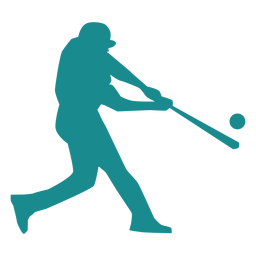 Player baseball player ballplayer bat ball silhouette