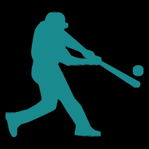 Player baseball player ballplayer bat ball silhouette Transparent PNG