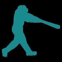 Jogador de beisebol jogador ballplayer morcego cap silhueta