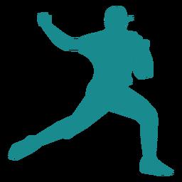 Jogador de beisebol jogador ballplayer cap silhueta
