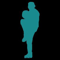 Player baseball player ballplayer glove cap silhouette