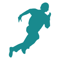 Player baseball player ballplayer running silhouette