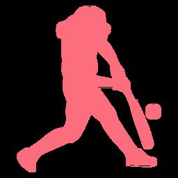 Jogador, jogador basebol, morcego, bola, ballplayer, silueta
