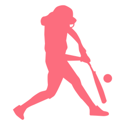 Player baseball player bat ball ballplayer silhouette