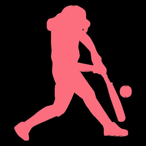 Jugador jugador de béisbol bate pelota jugador de pelota silueta Transparent PNG