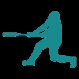 Jogador de beisebol jogador morcego jogador de beisebol silhueta