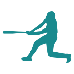 Jugador de beisbol jugador bate jugador de pelota silueta