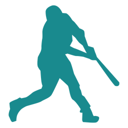 Player baseball player bat ballplayer silhouette baseball