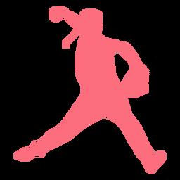 Jugador beisbolista guante pelotero silueta
