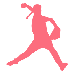 Player baseball player glove ballplayer silhouette