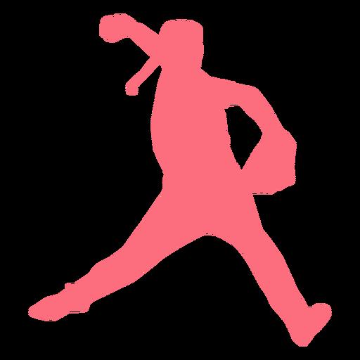 Jugador beisbolista guante pelotero silueta Transparent PNG