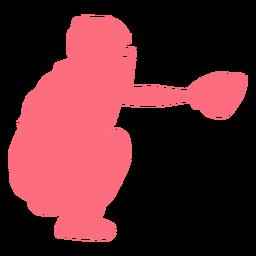 Jugador de béisbol jugador casco guante jugador de pelota silueta
