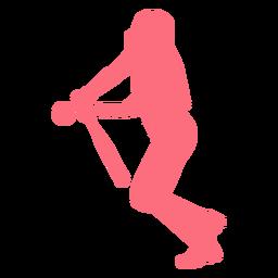 Jogador, morcego, bola, jogador basebol, jogador ballplayer, silueta
