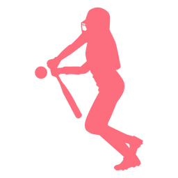 Player bat ball baseball player ballplayer silhouette
