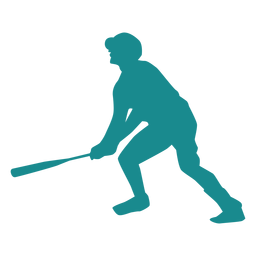 Player bat baseball player ballplayer silhouette
