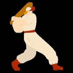 Jugador bate gorra traje plano