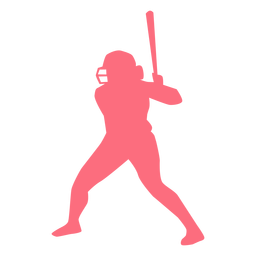 Player bat helmet baseball player ballplayer silhouette