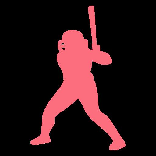 Player bat helmet baseball player ballplayer silhouette Transparent PNG