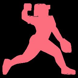 Jugador gorra bola guante jugador de béisbol jugador de pelota silueta