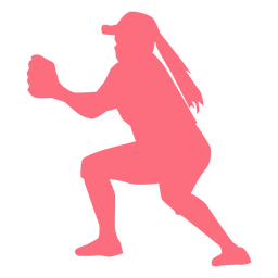 Jugador gorra guante jugador de béisbol jugador de pelota silueta