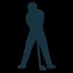 Jogador, clube, bola, t camisa, calças, silueta