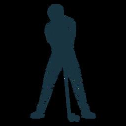 Jogador, clube, t camisa, boné, calças, listrado, silueta