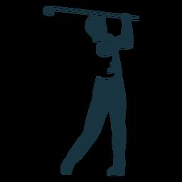 Jugador del club camiseta pantalones silueta detallada