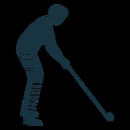 Jugador club camiseta camiseta rayas silueta